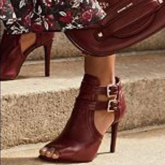 3f5ea32859 MICHAEL Michael Kors Shoes | Blaze Leather Open Toe Bootie | Poshmark